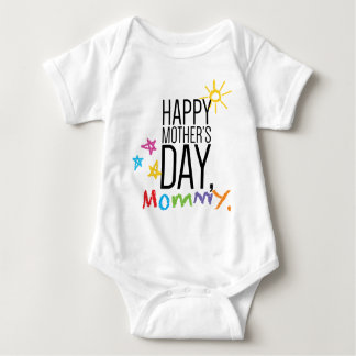 Happy Mother's Day Mommy Baby Bodysuit