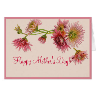 HAPPY MOTHER'S DAY MUMS by SHARON SHARPE Greeting Card