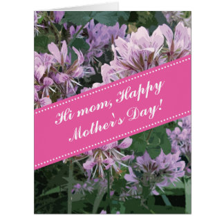 Happy Mother's Day oversized floral greeting card