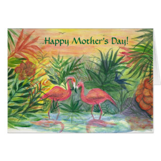 Happy Mother's Day! Pink Flamingos Card