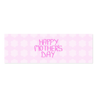 Happy Mothers Day. Pink Flower Pattern Pack Of Skinny Business Cards