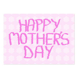 Happy Mothers Day Pink Flower Pattern Business Card Template