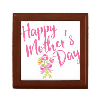 Happy Mother's Day Pink Flowers Bouquet Gift Gift Box
