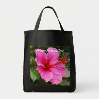 Happy Mother's Day Pink Hibiscus Bag