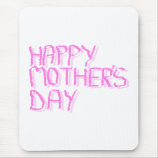 Happy Mothers Day.  Pink Letters. Mouse Mat