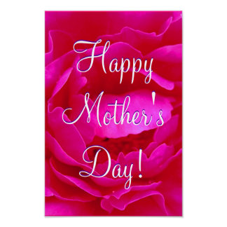 Happy Mother's Day Pink Rose I Posters