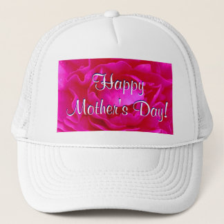 Happy Mother's Day Pink Rose Trucker Hat