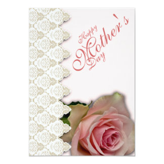 """Happy Mother's Day & Pink with Poem - 1 5"""" X 7"""" Invitation Card"""