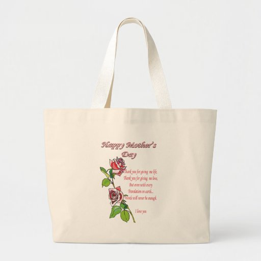 Happy Mother's Day Poem Bag