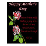 Happy Mother's Day Poem Post Card