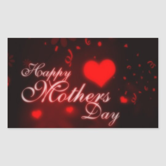 happy mothers day rectangular sticker