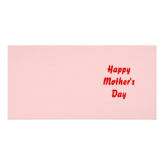 Happy Mothers Day Red and Pink Custom Photo Card
