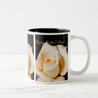 Happy Mother's Day Roses Two-Tone Mug