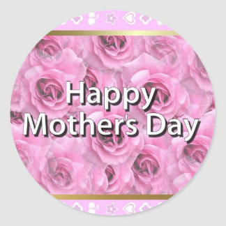 Happy Mother's Day Round Sticker