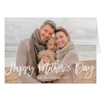 Happy Mother's Day Script Photo Greeting Card
