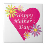 Happy Mothers Day Small Square Tile