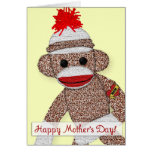 """Happy Mother's Day!"" Sock Monkey Tattoo card"