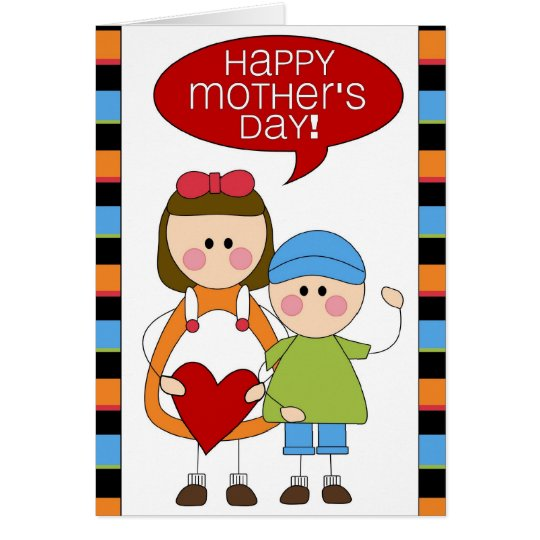 happy mother's day (son & daughter) card