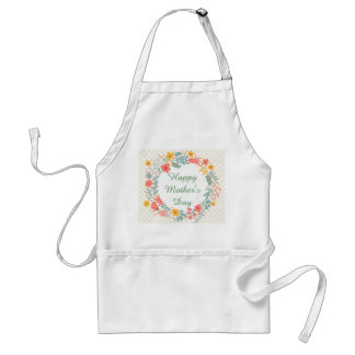 Happy Mother's Day Spring Flowers Standard Apron