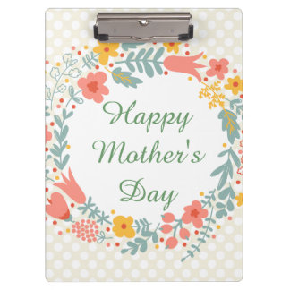 Happy Mother's Day Spring Flowers Clipboards