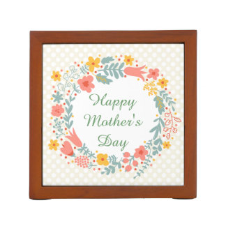 Happy Mother's Day Spring Flowers Pencil Holder