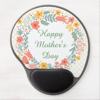 Happy Mother's Day Spring Flowers Gel Mouse Pad