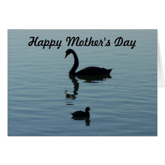 Happy Mother's Day - Swan and baby Card