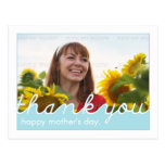 Happy Mothers Day Thank You, Mum Blue White Photo