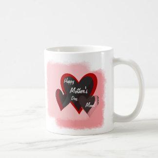 Happy Mother's Day Three Hearts Crazy Basic White Mug