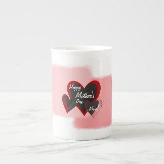 Happy Mother's Day Three Hearts Crazy Bone China Mug