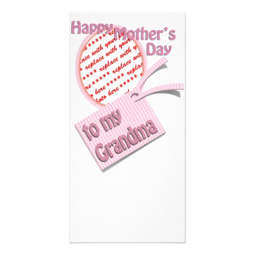 Happy Mother's Day to Grandma Photo Frame Photo Greeting Card