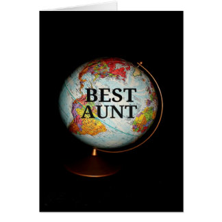 """""""Happy Mother's Day To The Best Aunt On Earth"""" car Greeting Card"""