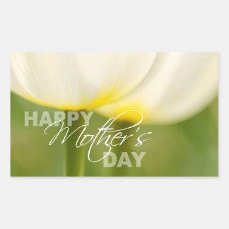 Happy Mother's Day Tulips Rectangular Sticker