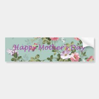 Happy Mother's Day - Vintage Floral Bumper Sticker