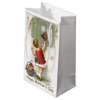 Happy Mothers Day - Vintage Small Gift Bag