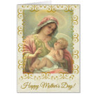 HAPPY MOTHER'S DAY VIRGIN MARY RELIGIOUS CARD