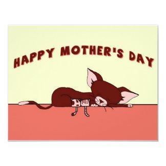 Happy Mother's Day w/ Rochelle The Cat Postcard 11 Cm X 14 Cm Invitation Card