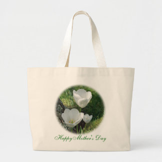 Happy Mother's Day White Tulips Bag