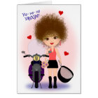 Happy Mother's Day with a Motorcycle Mama! Card
