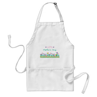 Happy-Mothers-Day with Flowers Unique Standard Apron