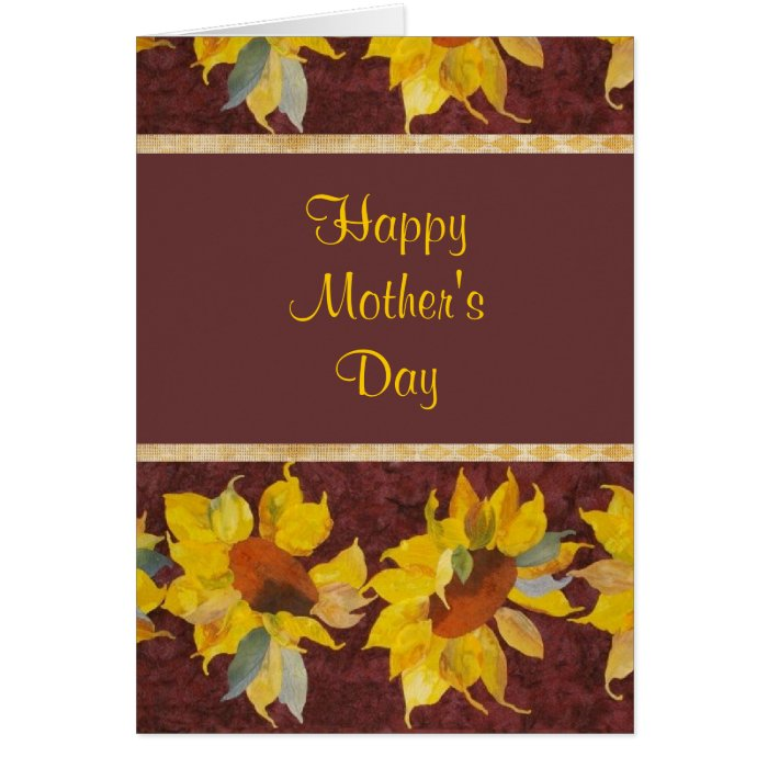Happy Mother's Day with sunflowers Greeting Card