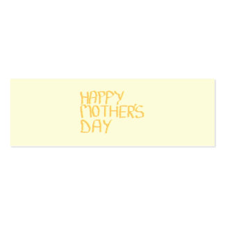 Happy Mothers Day. Yellow. Pack Of Skinny Business Cards