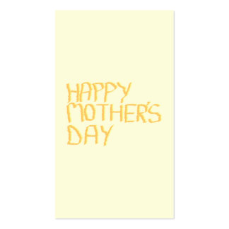 Happy Mothers Day. Yellow. Business Card