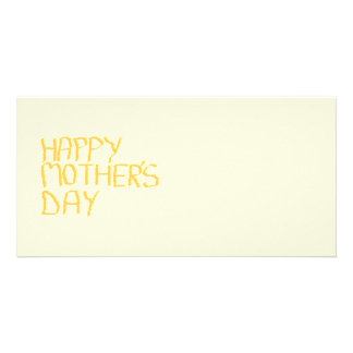 Happy Mothers Day Yellow Photo Card Template