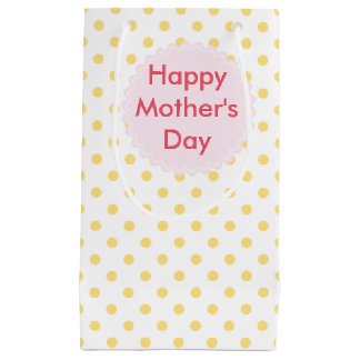 Happy Mother's Day   Yellow Polkadots Gift Bag