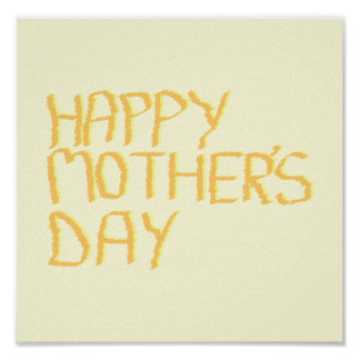 Happy Mothers Day. Yellow. Poster