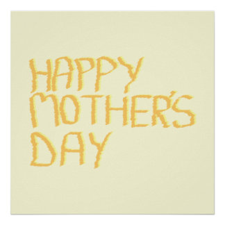 Happy Mothers Day Yellow Print