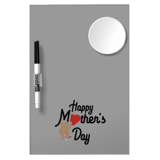 Happy Mothers day Zg6w3 Dry Erase Whiteboard