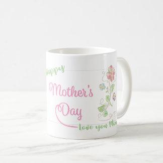 Happy-Mothers-Days, Flowers, Love you Mom Coffee Mug