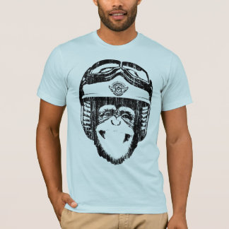 Happy Moto Monkey (vintage black) T-Shirt